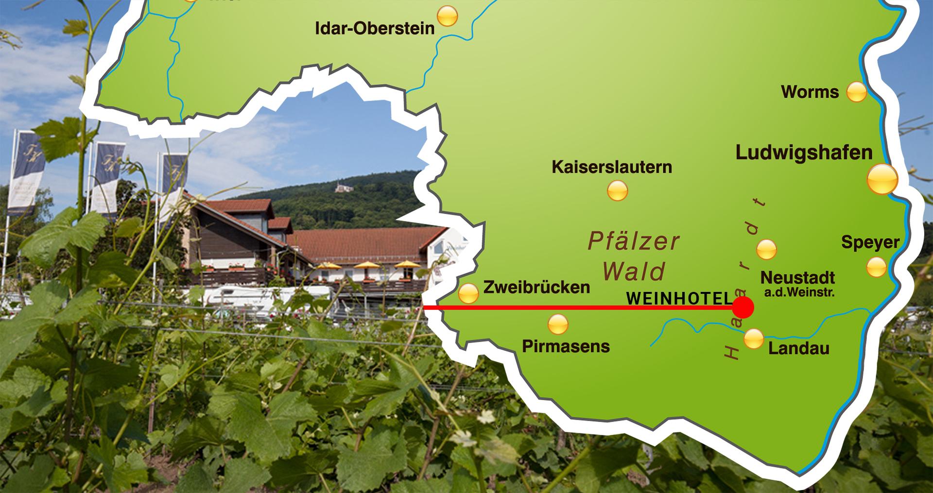 Weinhotel Kienle Landkarte